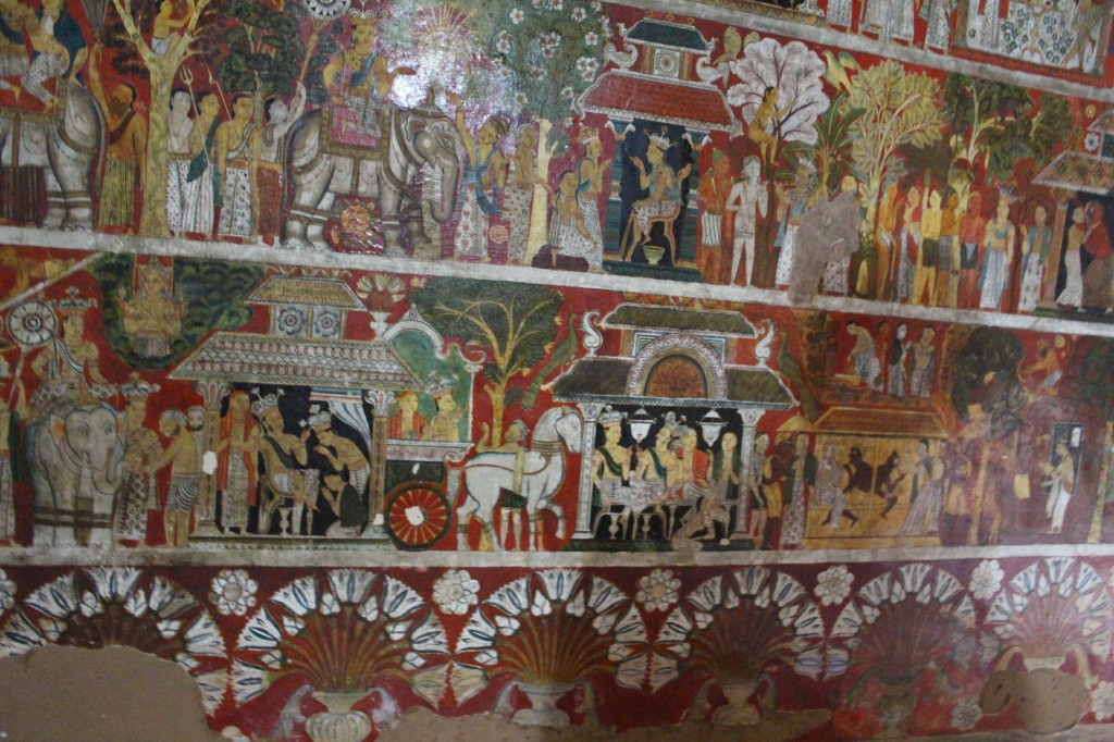 Part of a large mural from a shrine on the first terrace. Photo by Karen Martindale.
