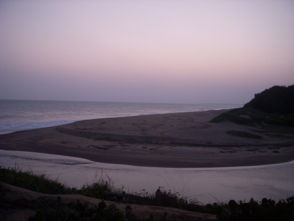 The mouth of the Walawe river flowing into the Indian Ocean. Photo by Megan Collier.