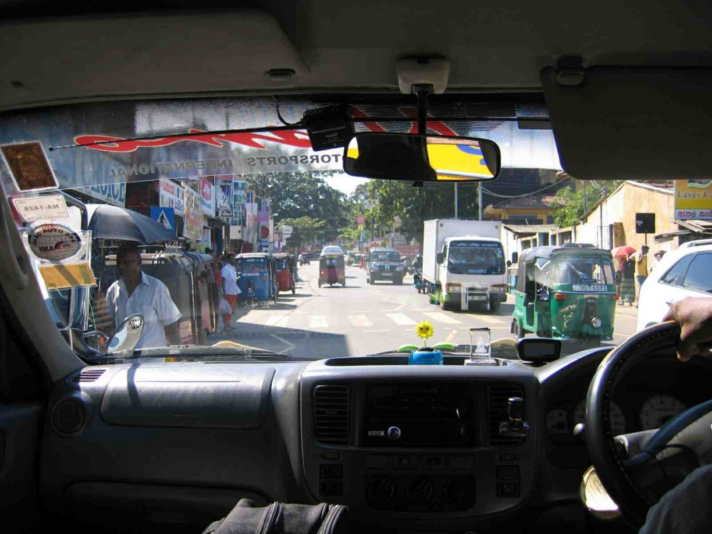 Typical street scene in Colombo, Sri Lanka.  Photo by K. Trethewey.