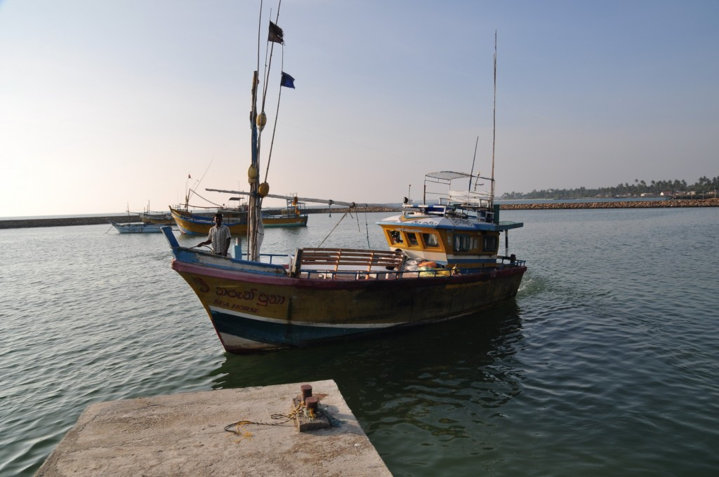 The local fishing vessel hired to act as our work platform for the season.