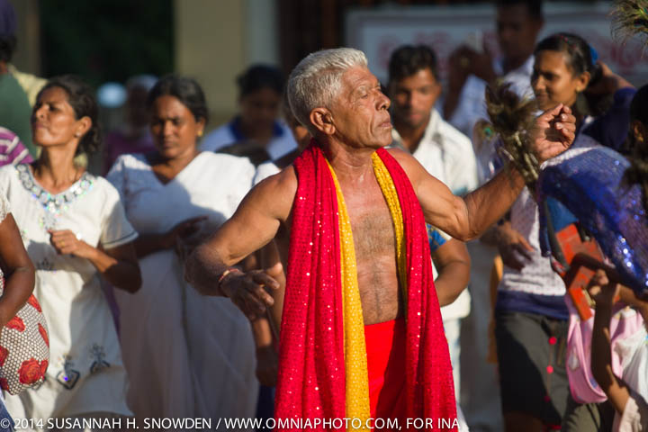 A dancer in the Hindu procession.  Photo by Susannah Snowden.