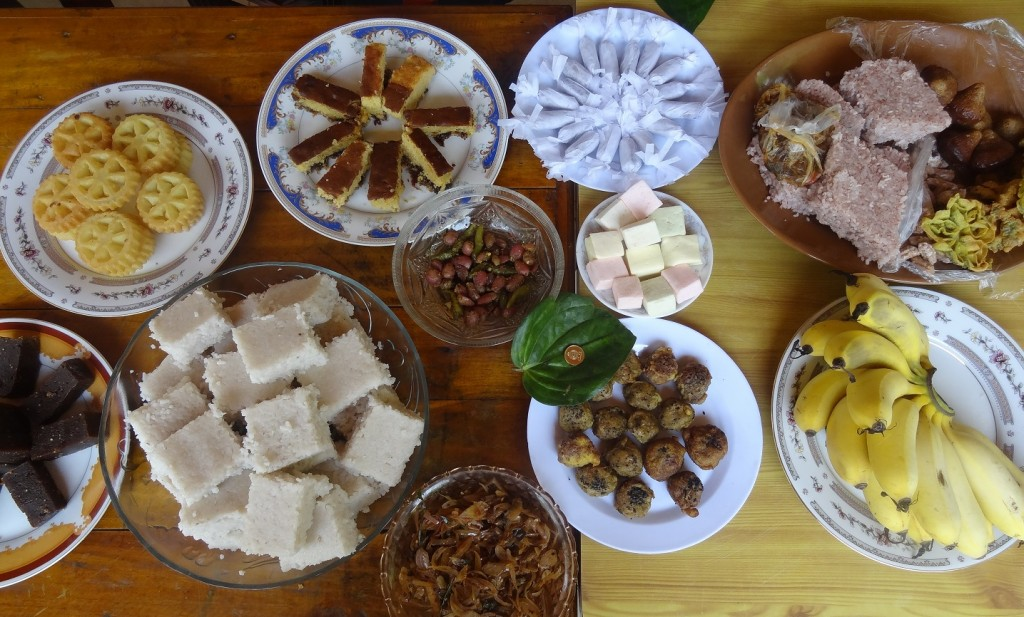 Our impressive spread of traditional pastries! Photo by Angie Sunkur.