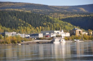 Dawson City from Across the Yukon River