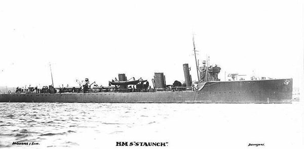 Historic photograph of HMS Staunch