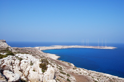 Cape Greco The Low headland of Cape Greco Viewed from the High Plateau farther west