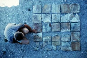Hearth tiles from the galley. (Photo: INA) Slide# YA7-528). Hearth tiles from the galley. (Photo: INA) Slide# YA7-528).