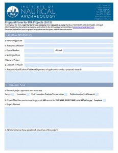 INA Proposal Form