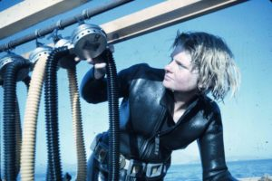 Susan Womer after a dive (Photo INA Slide # ya7-86) REF743