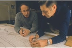Michael Katzev and J. Richard Steffy working on the lines drawing (Photo: Susan Katzev).  REF4254