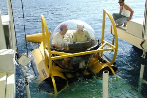 The INA submersible, Carolyn, was used during the excavation (Photo: INA). REF4197