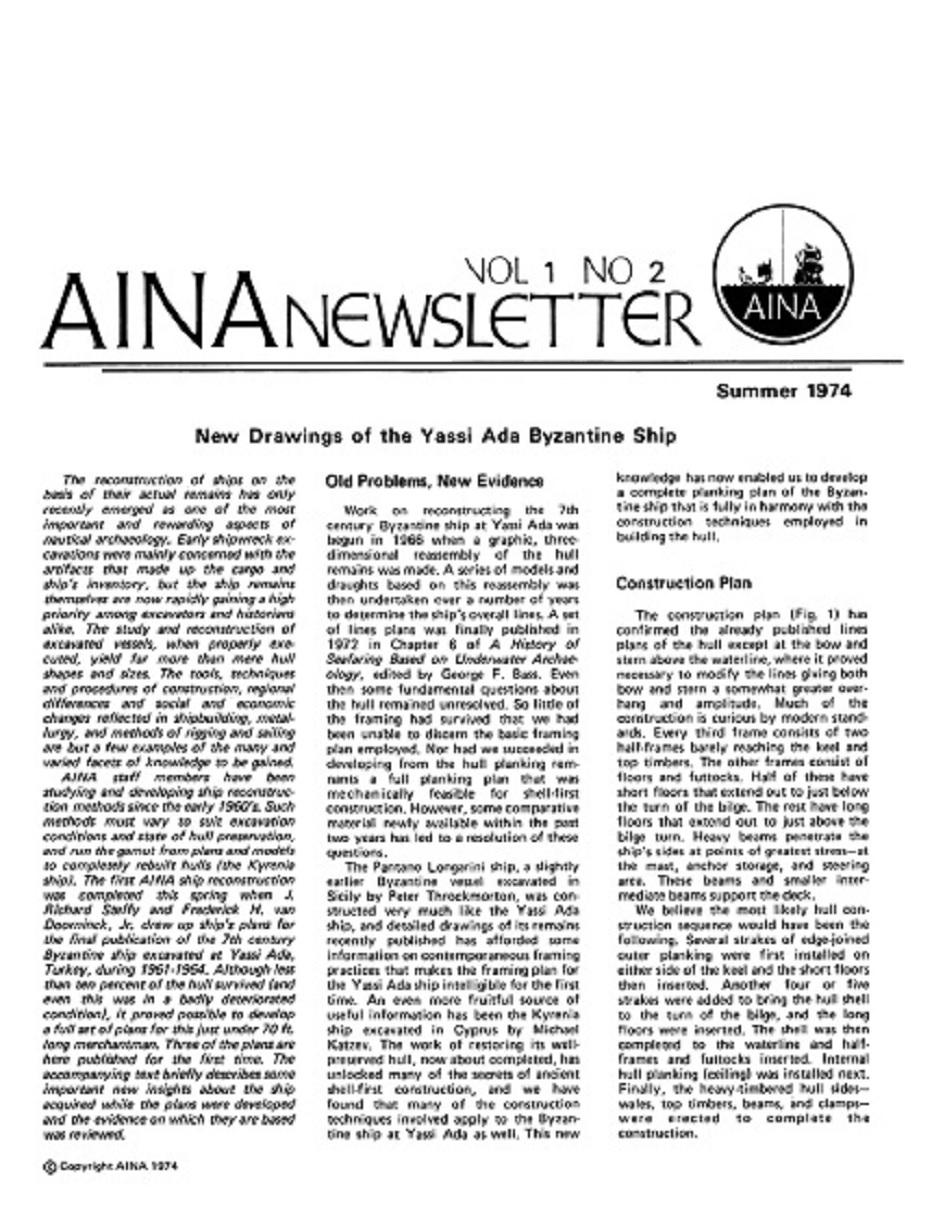 AINA Quarterly 1.2 Summer 1974