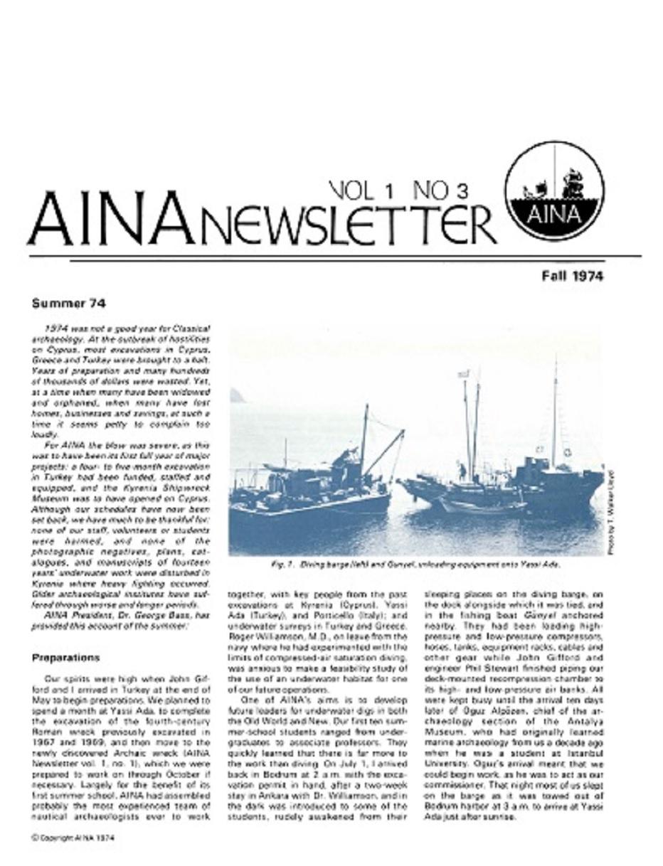 AINA Quarterly 1.3 Fall 1974