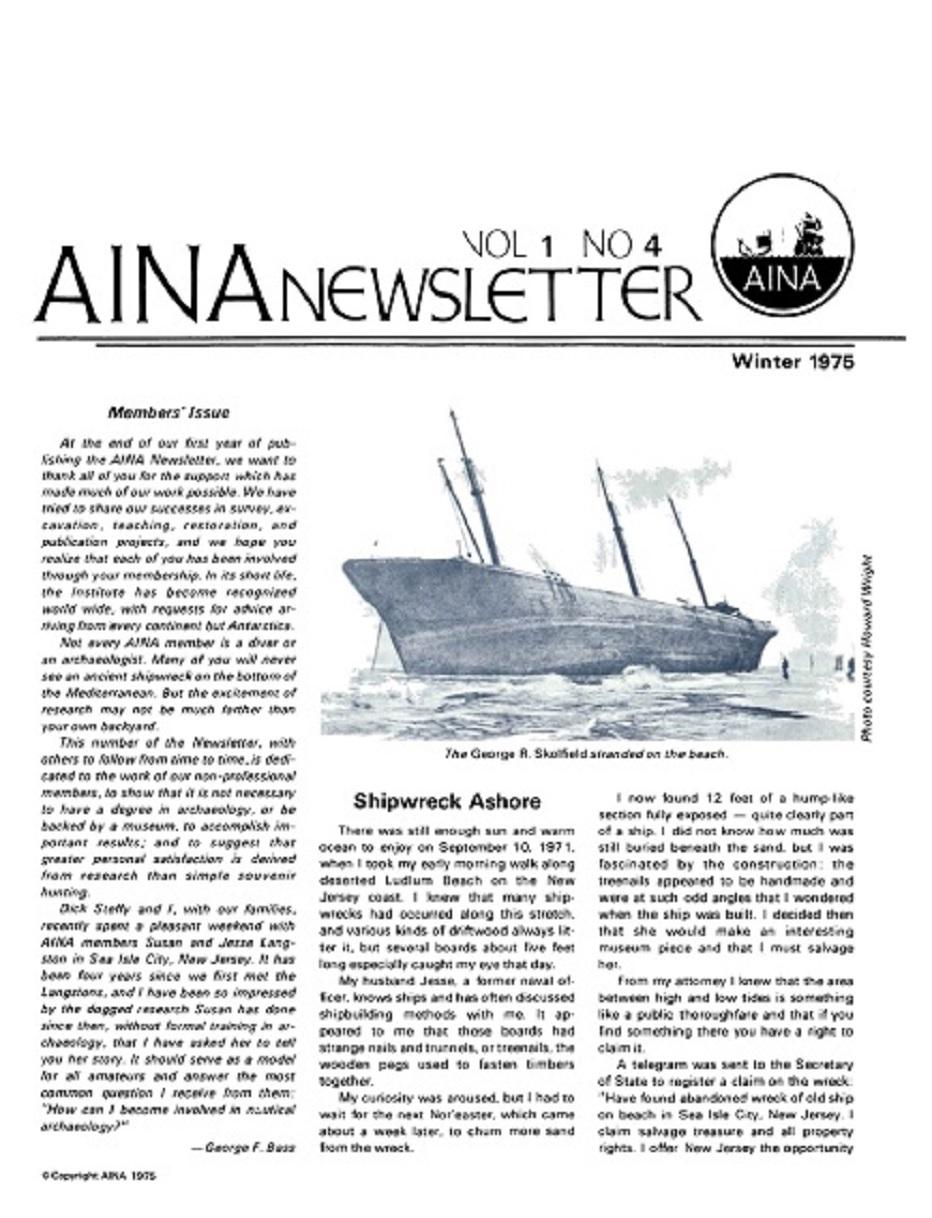 AINA Quarterly 1.4 Winter 1974