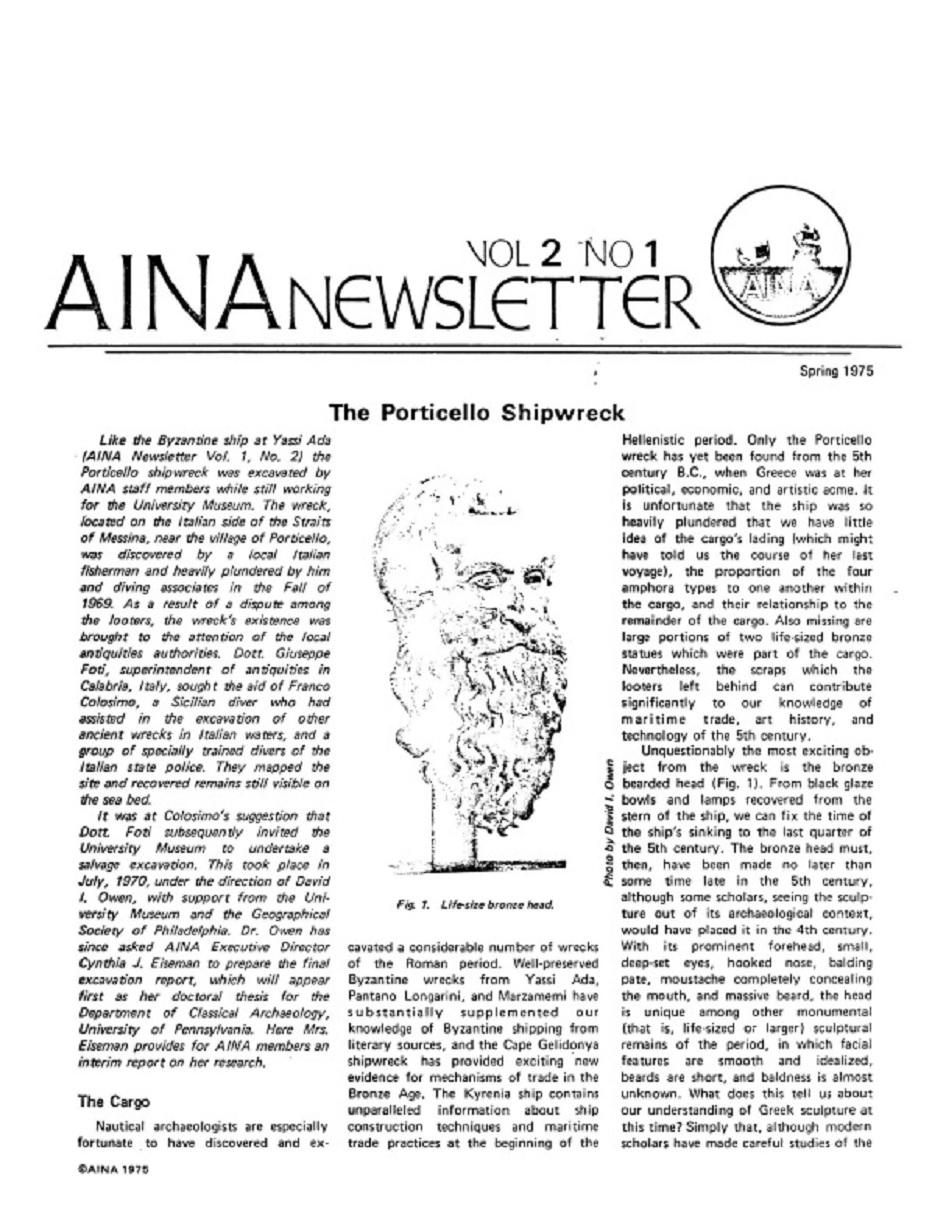 AINA Quarterly 2.1 Spring 1975