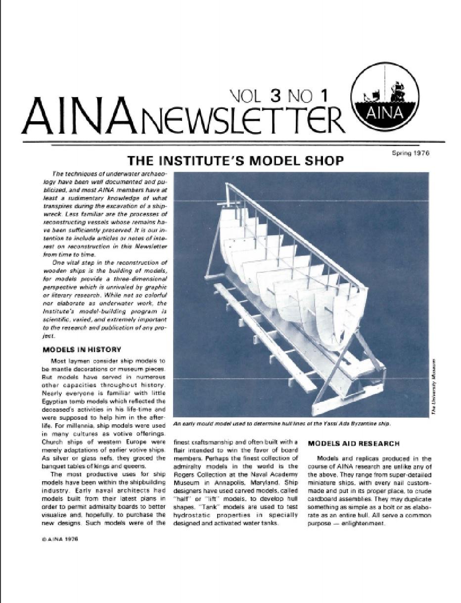 AINA Quarterly 3.1 Spring 1976