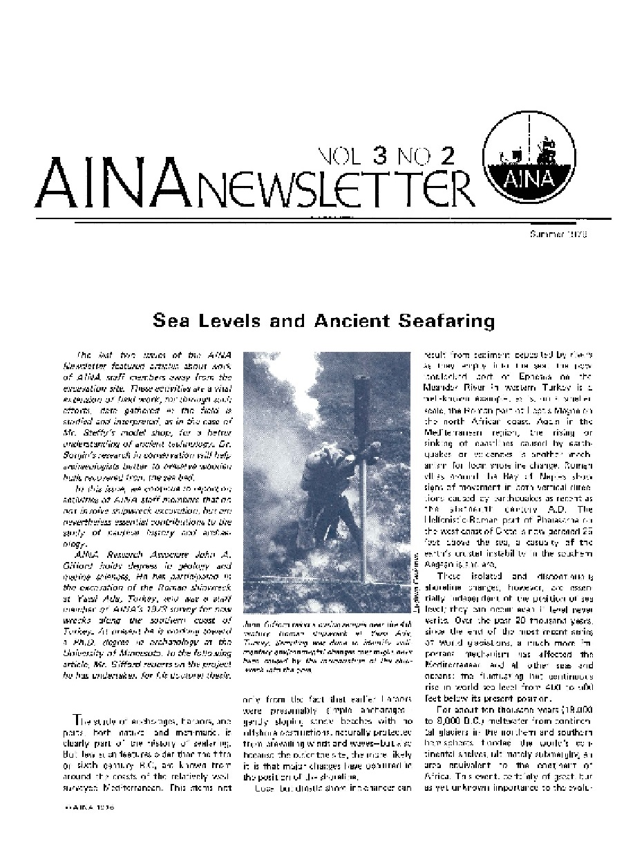 AINA Quarterly 3.2 Summer 1976