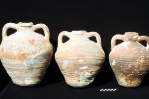 Three of the globular amphoras. (Photo: INA, Slide# GW-2085). REF4374
