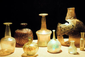 Some of the many types of glassware found on the Serçe Limanı shipwreck. (Photo: INA, Slide# GW-1183). REF4377