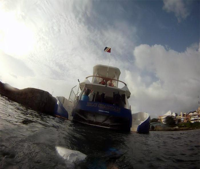 """Dive platform R/V """"Blu Spartan."""" 2012"""