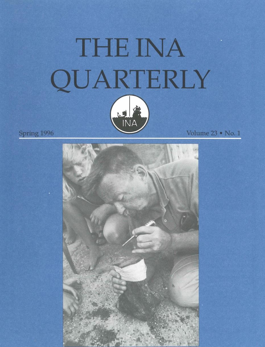 INA Quarterly 23.1 Spring 1996