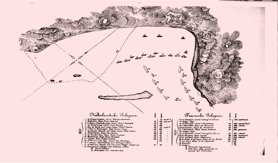 Map of the Battle of Scarborough (Woodcock 1886)