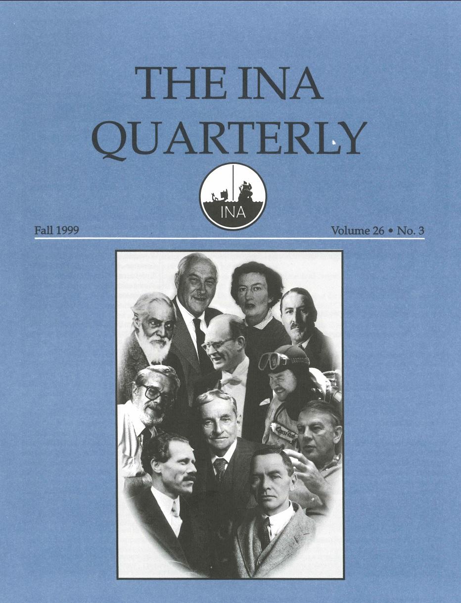 INA Quarterly 26.3 Fall 1999