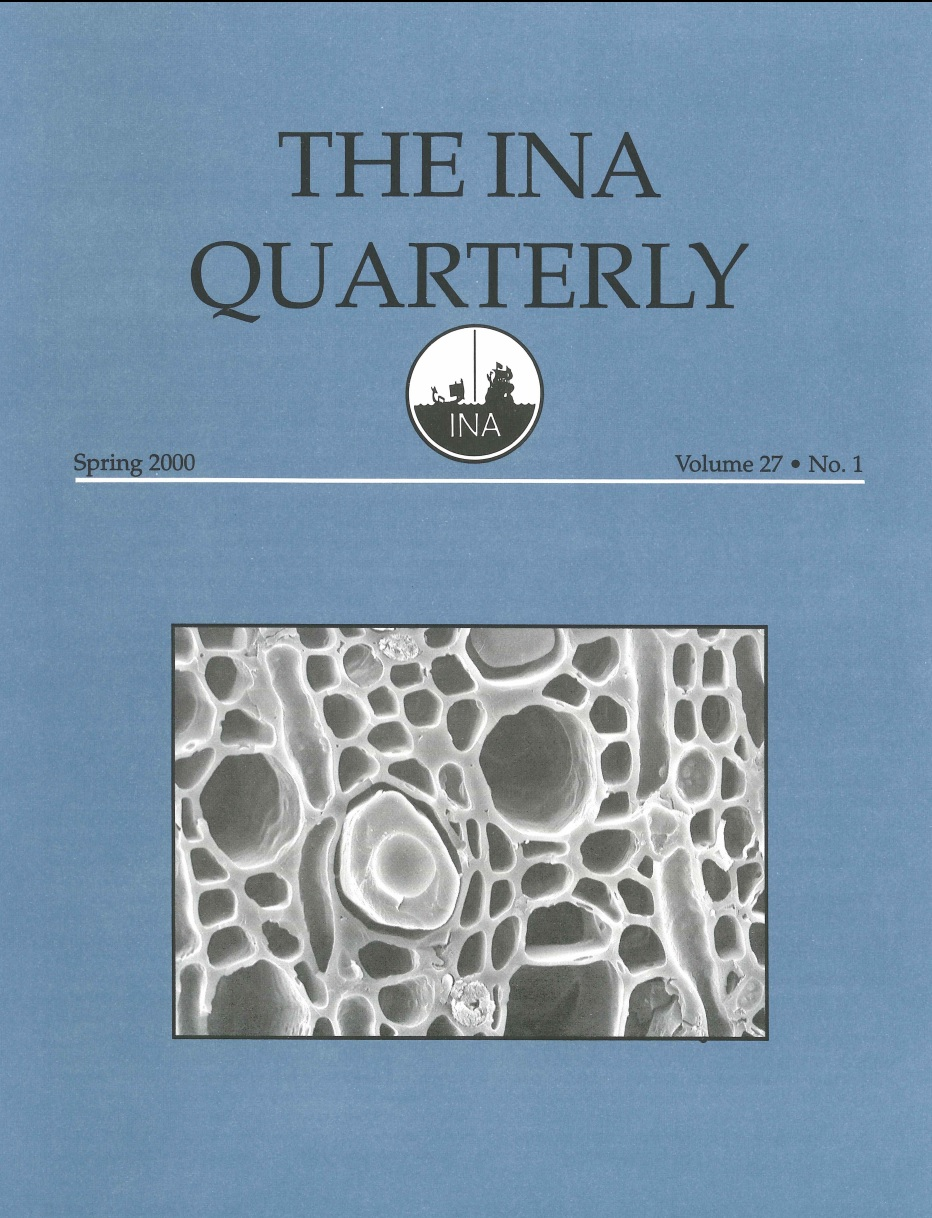 INA Quarterly 27.1 Spring 2000