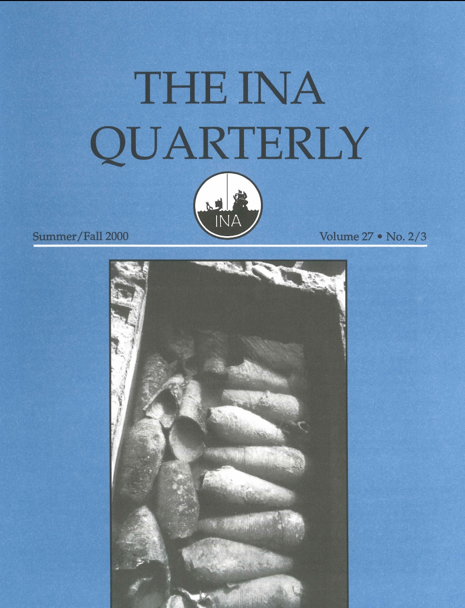 INA Quarterly 27.2-3 Summer/Fall 2000