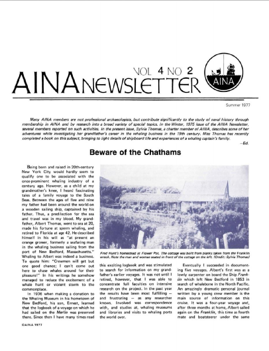 AINA Quarterly 4.2 Summer 1977