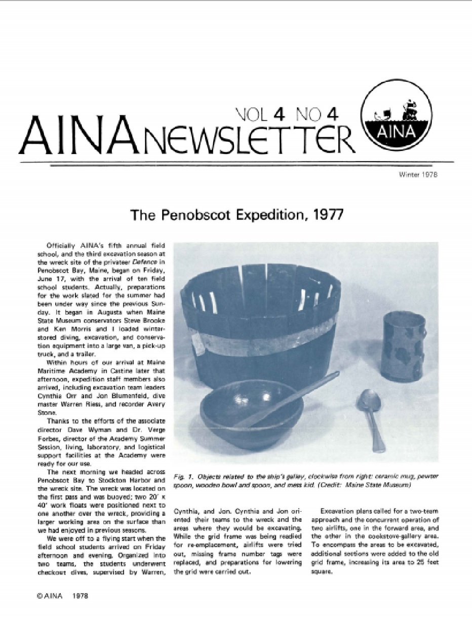 AINA Quarterly 4.4 Winter 1977