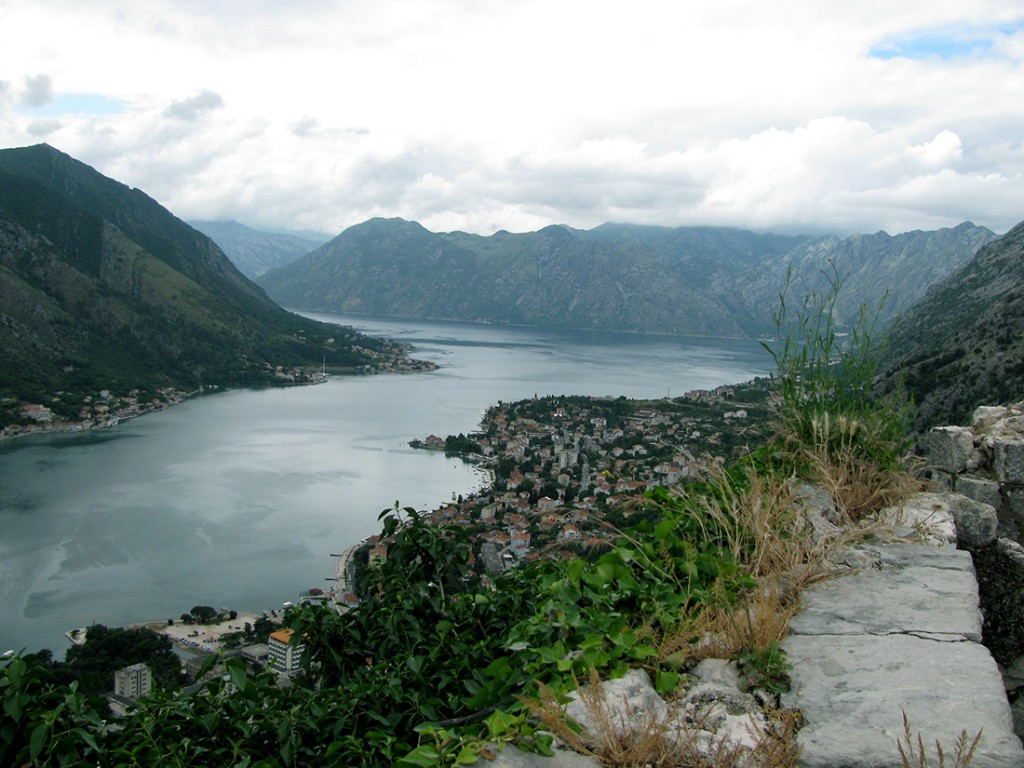 View of Boka Katorska from atop the medieval fortress above Kotor, ancient Risan was situated around to the right in the bay. Photograph by J. Royal.