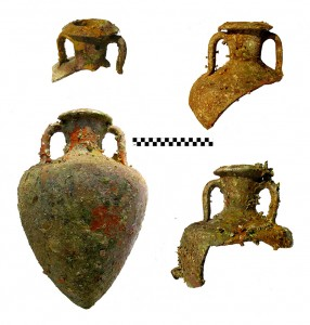 Greco-Italic amphoras retrieved during the 2009 field season. Photographs by J. Royal, RPMNF