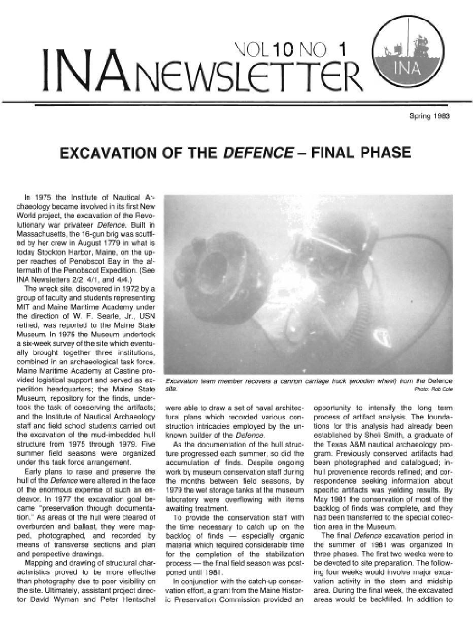 INA Quarterly 10.1 Spring 1983