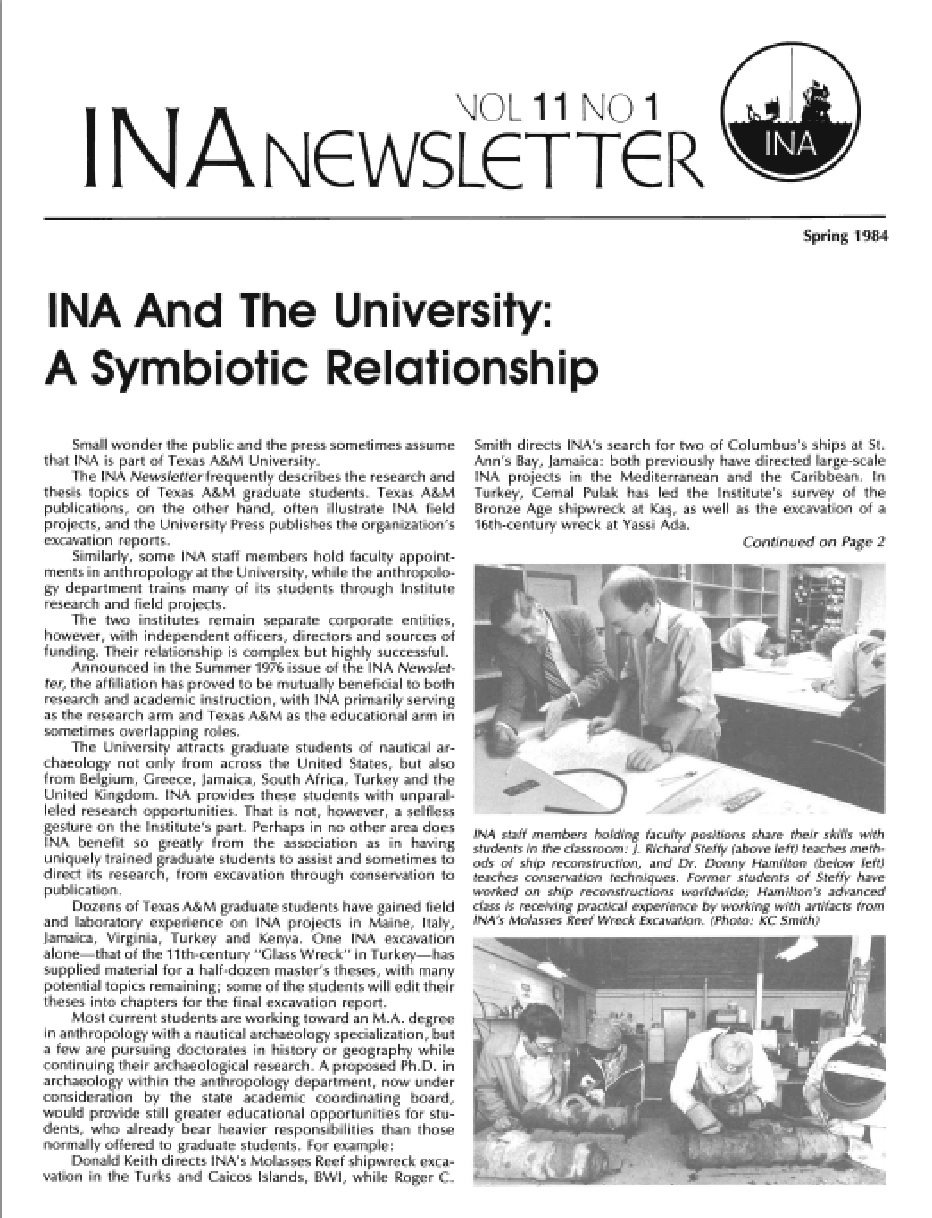 INA Quarterly 11.1 Spring 1984