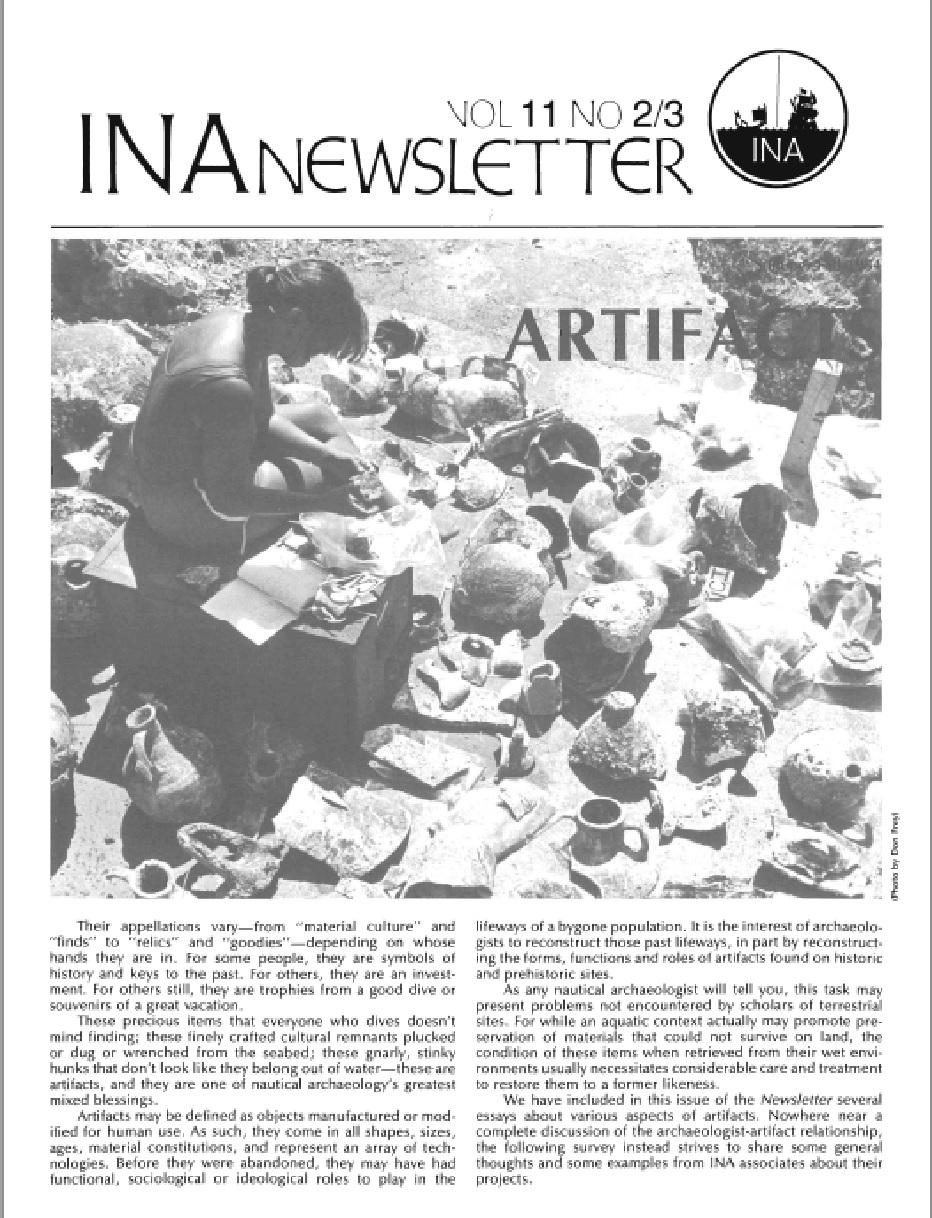 INA Quarterly 11.2/3 Summer/Fall 1984