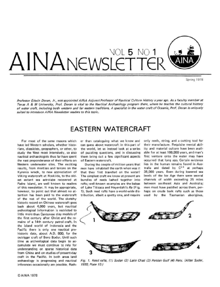 AINA Quarterly 5.1 Spring 1978