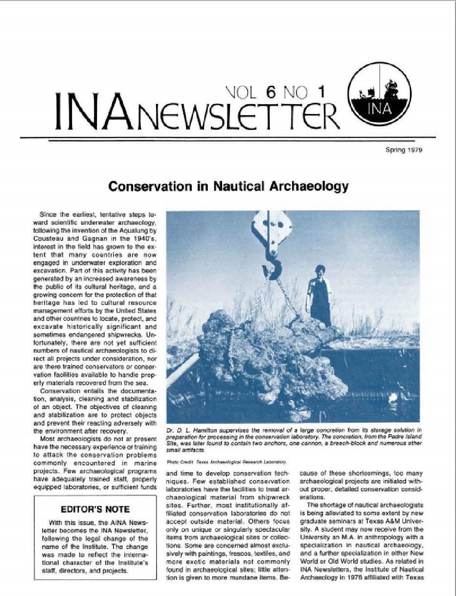 INA Quarterly 6.1 Spring 1979