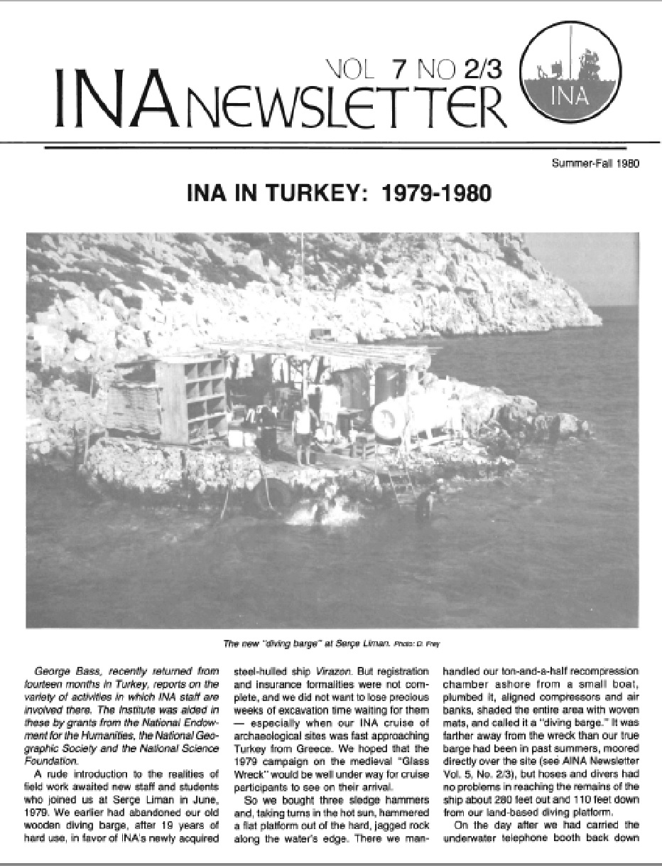 INA Quarterly 7.2/3 Summer/Fall 1980
