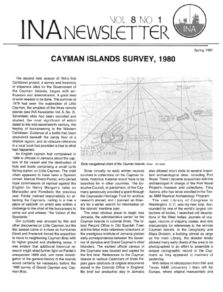 INA Quarterly 8.1 Spring 1981