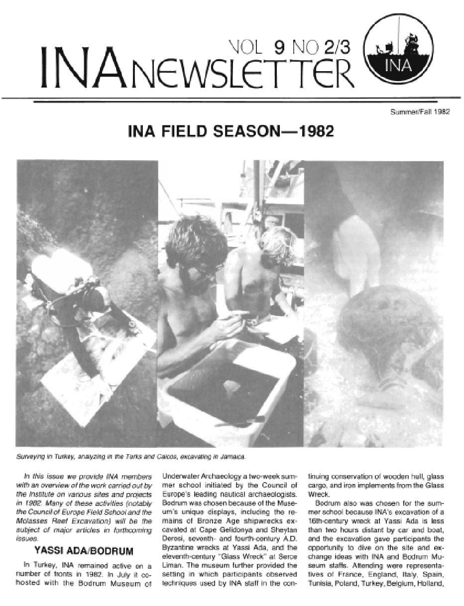 INA Quarterly 9.2/3 Summer/Fall 1982