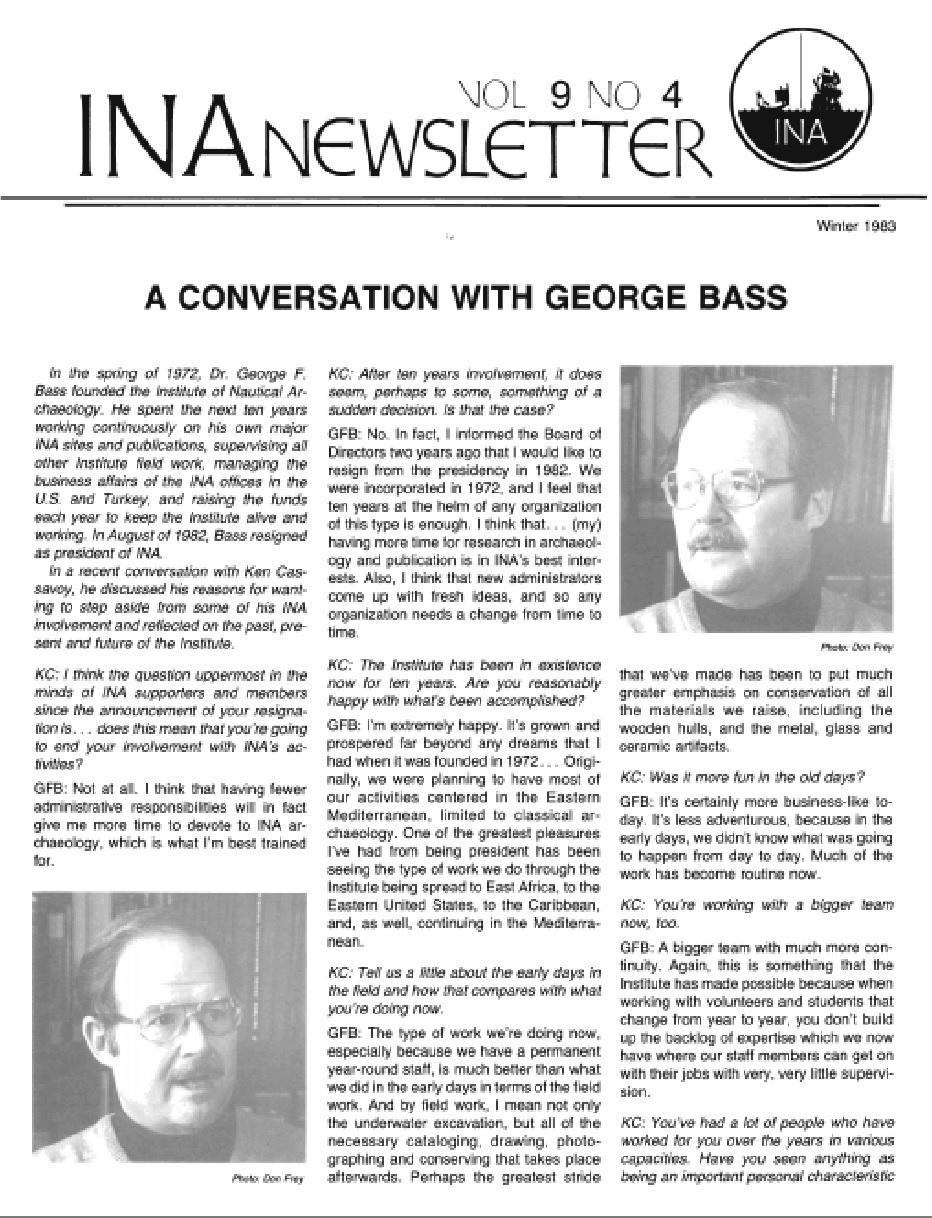 INA Quarterly 9.4 Winter 1982