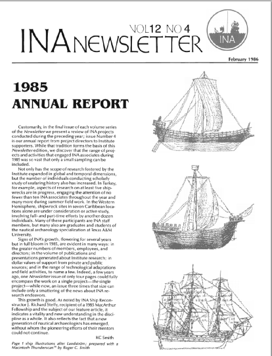 INA Quarterly 12.4 Winter 1985