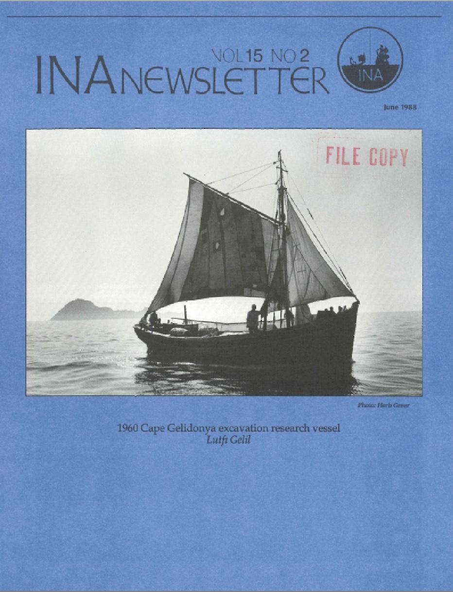 INA Quarterly 15.2 Summer 1988