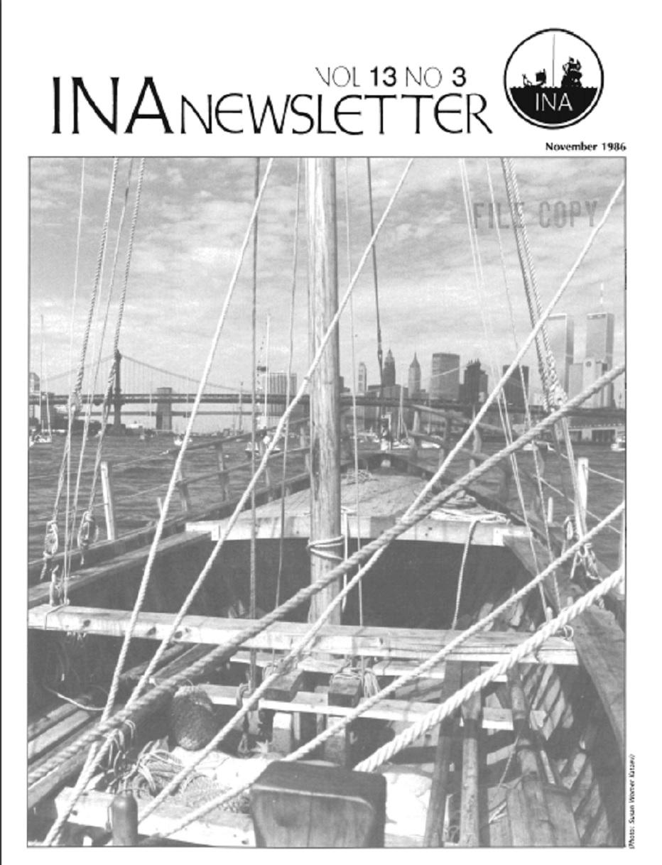 INA Quarterly 13.3 Fall 1986