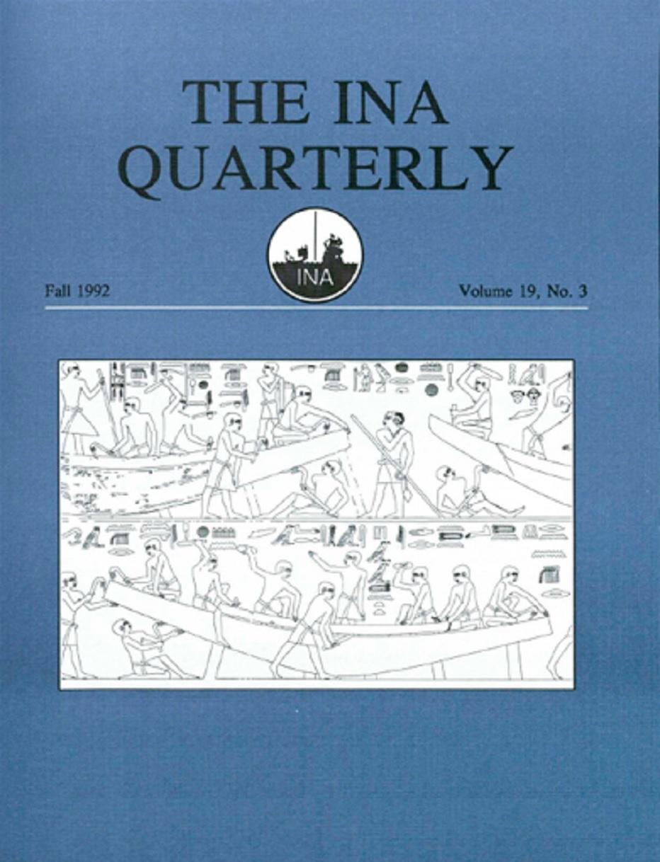 INA Quarterly 19.3 Fall 1992