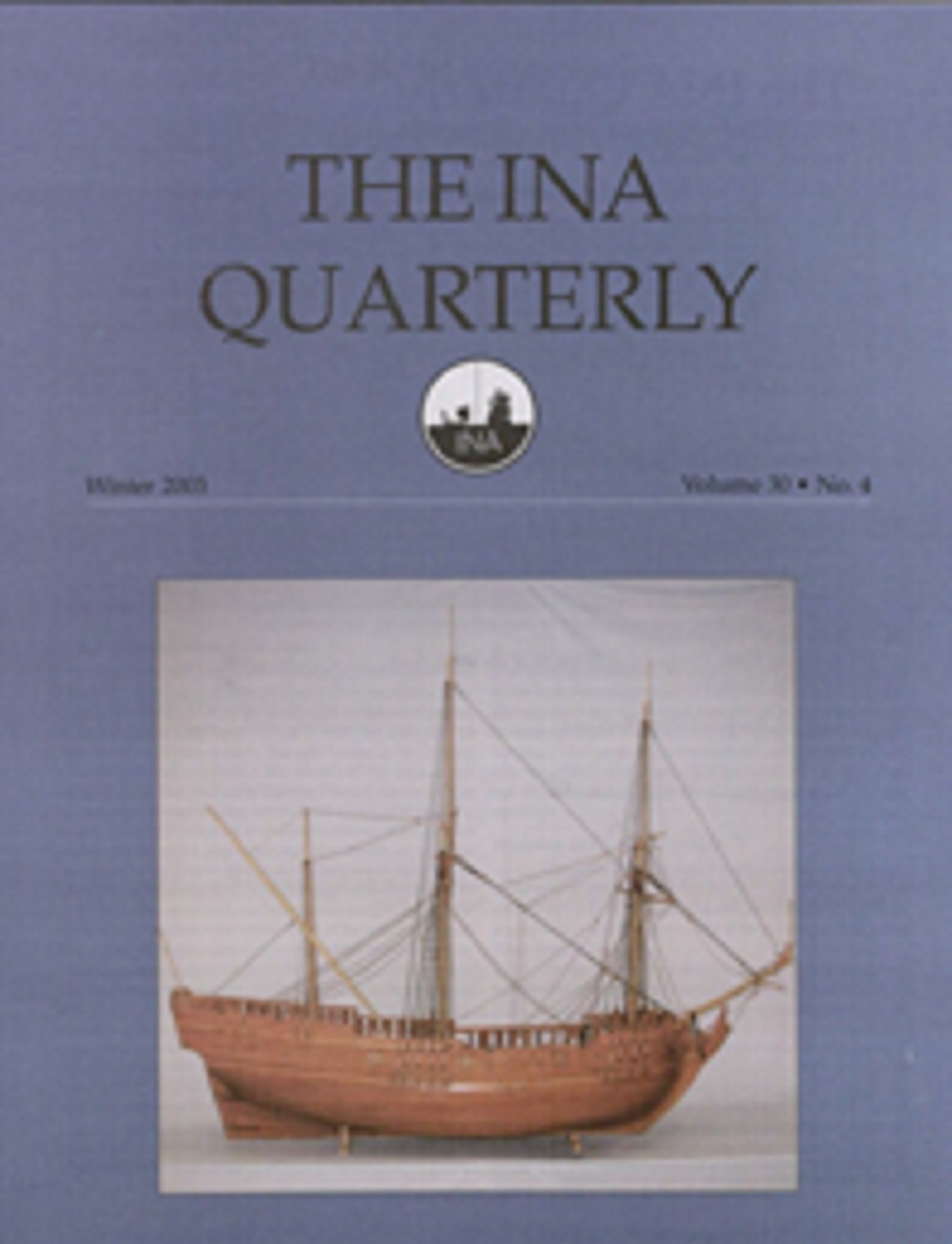 INA Quarterly 30.4 Winter 2003