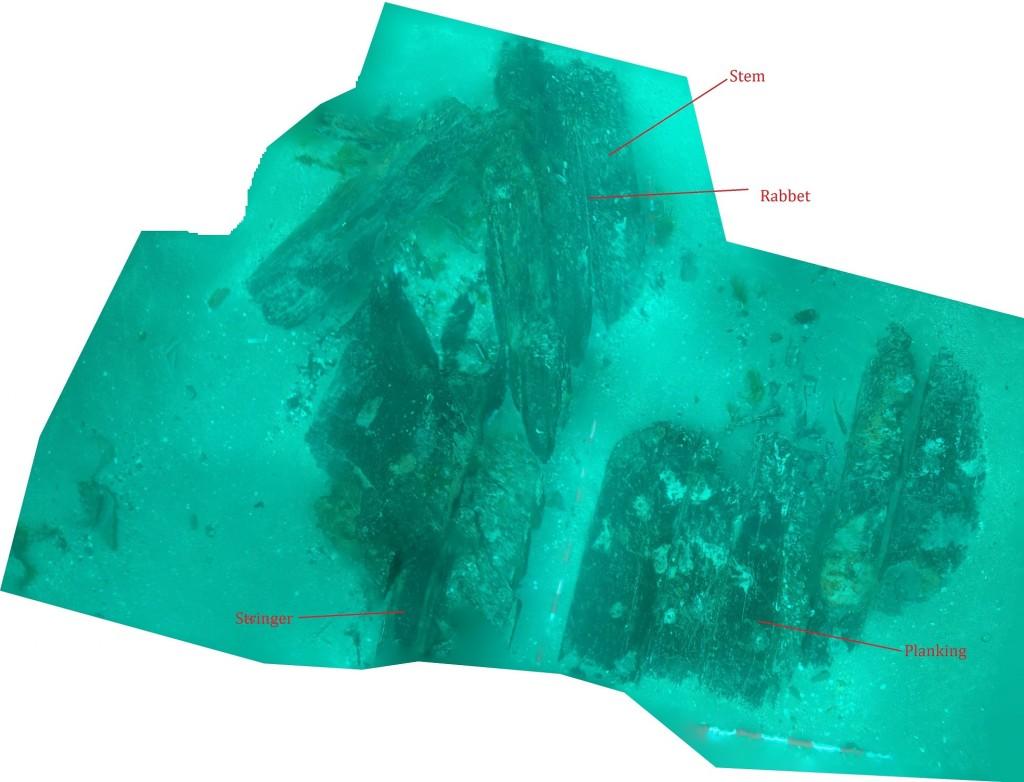 Figure 3. Bow section components (Photo: Jose Casaban).