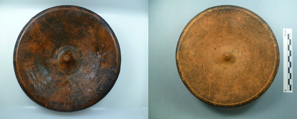 Pottery lid from Punta Restelos shipwreck (Photo: V. Folgueira).