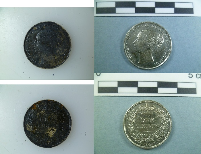 Fig. 2. 1844 Silver shilling.