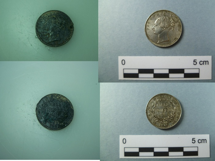 Fig. 4. 1840 half rupee.